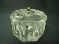 ガラスインク瓶八角形 g13