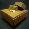 古い将棋盤と駒のミニチュアセット s09