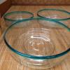 大正ガラス 三つ重ね鉢 無傷完品大中小 g-31