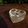ガラスのインク壷ハート形 g-36