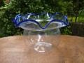 アンティーク金魚鉢 くっきりとした青色 g-48