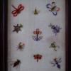 古いビーズ刺しゅう 花と虫たち s-172