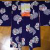 アンティーク 正絹長羽織 紫地に可愛い花々 92cm n-22