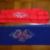 アンティーク正絹半襟2枚 本縮緬と手刺繍 n-23