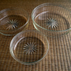 切子 透明ガラス 三つ重ね平鉢 大正~ g-100