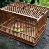 竹細工 虫籠と西瓜を食む虫 s-200