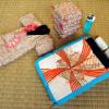 人形花嫁道具 夜具布団セット更紗袋入り n-27