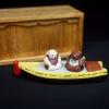 お伽噺カチカチ山の豆人形 兎と狸 s-216