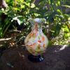アンティーク大正から昭和初め 吹雪ガラス花瓶 H12cm  g-103