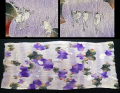 江戸縮緬 戯画 珍しい雨降り蛙とモグラの図 61cm n-41