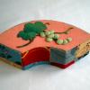 お細工物 江戸縮緬の扇形小箱 お人形遊び n-42
