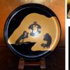 蒔絵師 竹園自耕作 「吉祥之猿」飾盆 三猿の図 k-83