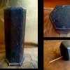 古い御神籤筒 木製六角形おみくじ s-328
