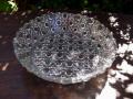 プレスガラス浅鉢 籠目文 g-129