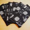 古布 藍 絣 薔薇文 着物1枚分 n-54