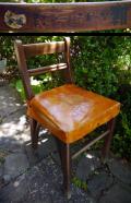 昭和レトロ木製子供用椅子 福助スポーツ靴の文字 ノベルティ k-94