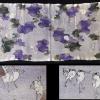 江戸縮緬 戯画 珍しい雨降り蛙とモグラの図 51cm n-55