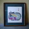 秋に相応しい色紙 水彩水墨画 宇野藤雄 「実り」 犬山市 s-396