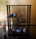 雛煎茶道具 唐木小珍器台付 涼炉霞晴山在銘 s-401