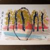 清水六兵衛 /陶画の控/「錦秋 花瓶」リトグラフ  s-411
