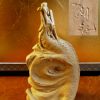 陶彫 彫塑 片岡静観作 「辰」 置物 干支 共箱共布共栞 s-419