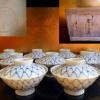 瀬戸 河本礫亭 青華網絵奈良茶碗 t-817