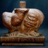木彫像 力持ちの神様 守り神 仏像 人物 飾り物 H11cm  s-458