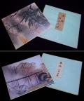 色紙2点 発行足立美術館 「横山大観 夜桜」「川合玉堂 春雨」印刷工芸 s-473