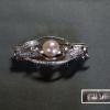 アンティーク帯留 パール 真珠 8mm玉 台SILVER s-467