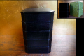 茶道具 天然木 黒漆塗 菓子器 五段縁高重 柿合塗 新同品 k-132