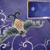 古布 筒描 藤色 淡い紫 唐草唐花模様 状態良美品 n-62
