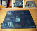 時代 小ぶりな蔵戸  市松模様の銅板  k-135