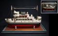 昭和レトロ 客船の模型 木製手作り s-487