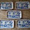 ヨーロッパ製アンティークの角豆皿 歯磨きハブラシ女の子 t-879