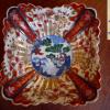 古伊万里色絵角形小鉢 瓔珞松竹梅文 大明成化年製 t-882
