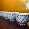 網手文煎茶碗5客 永峰窯 煎茶道具 t-914