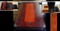 時代 箱蕎麦の漆箱 漆仕上げ 網代編み  蕎麦弁当箱 k-139