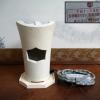 煎茶道具 白泥涼炉 野々田式 炭型電熱器付  通電動作確認済 s-503
