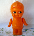 セルロイドキューピー オレンジ MADE IN JAPAN 珍品 s-511