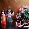 木目込み雛人形と花車 フランクリンミント「日本の十二カ月」s-530