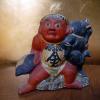 古い土人形 金時さんと熊 金太郎 伏見人形 s-532