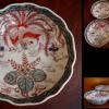古伊万里色絵膾皿4客 荘厳な鳳凰と桐流水文 t-1024