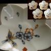 伊万里色絵 桜花形 小皿 向付 5客 無傷完品 径10~12.8cm t-1032