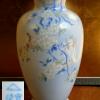 深川製磁花瓶 官窯染付 花鳥図 満開の桜と可愛い小鳥38cm t-1038