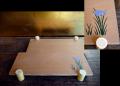 木製 杜若文 菓子器 茶道具 花台 置き台 k-164