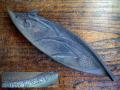 菖蒲模様の鉄製ペン皿 東筑紫学園創立30周年1966年 s-539