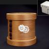 茶道具 蓋置 曲蓋置 杉材 菊文 / 木工竹芸 k-172