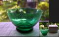 茶道具 夏茶碗 ガラス 抹茶茶碗 涼やかなグリーン g-147