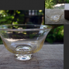茶道具 夏茶碗 ガラス 抹茶茶碗 爽やかな金彩散し g-148