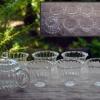 夏の煎茶器揃 ガラス 煎茶道具 横手茶銚と茶碗6客 g-149